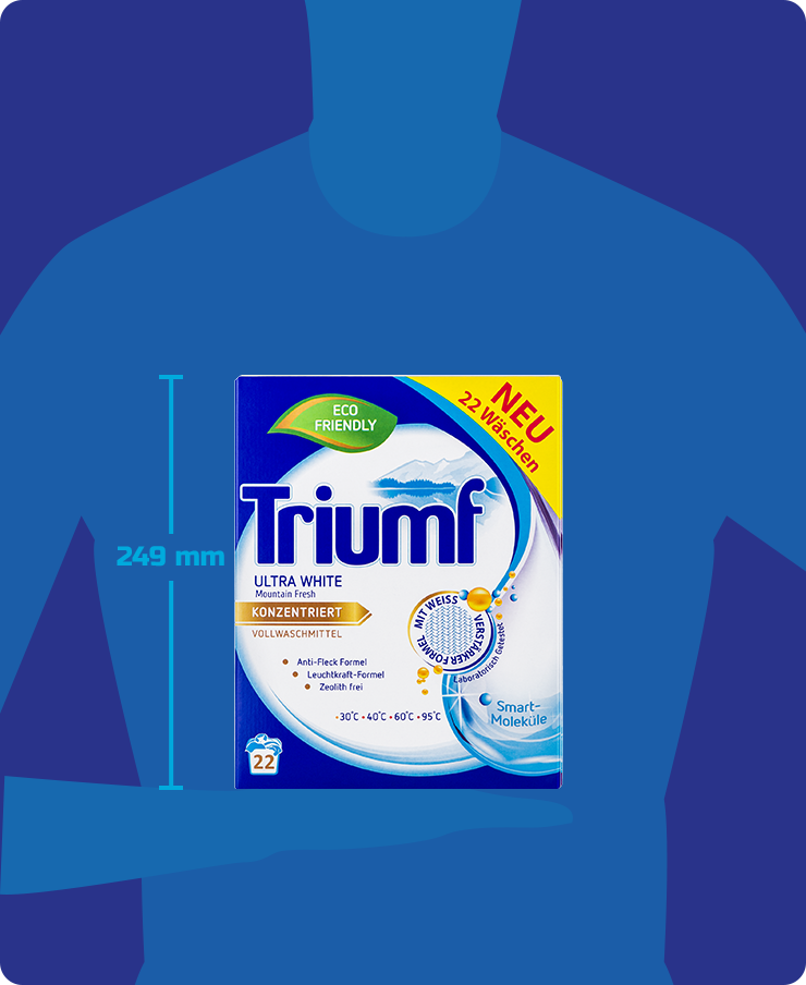 Chwalebne Washing powder Triumf Ultra White 1,6 kg - Triumf AB04